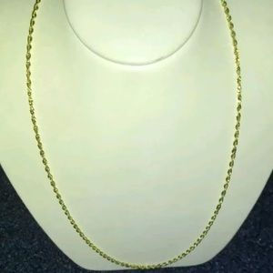 "Other - Solid Gold Rope Chain 16"" Women's Necklace"